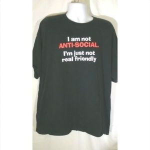 I Am Not Anti-Social Men's T-Shirt 2XL Graphic